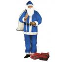 Blåt julemandskostume