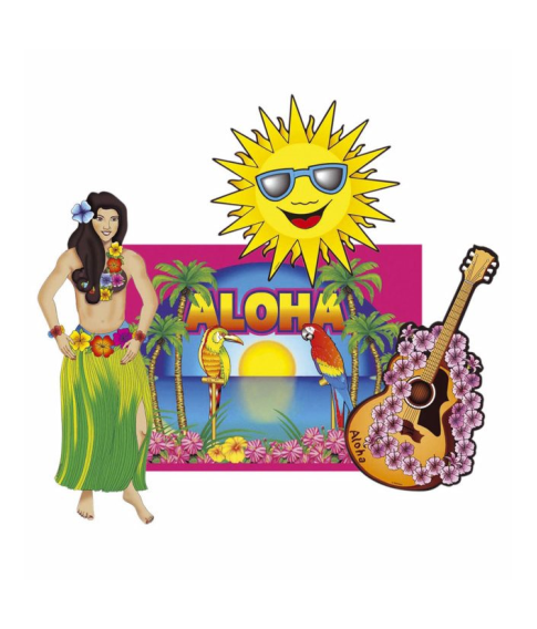 Hawaii dekorationer