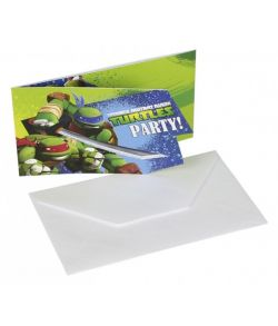 Ninja Turtles invitationer