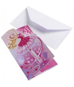 Barbie Pink Shoes invitationer