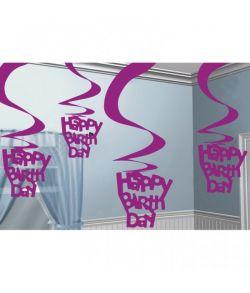 Fødselsdagspiral pink