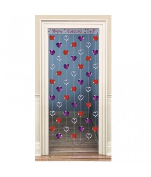 Hjerte dørgardin