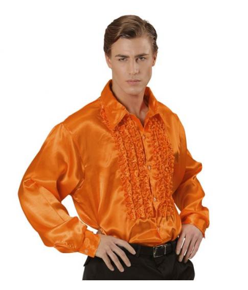 Flæseskjorte orange