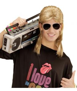 80er mullet, blond