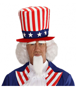 Uncle Sam paryk og skæg