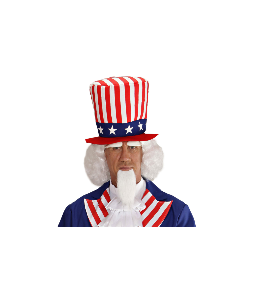 Uncle Sam paryk og skæg