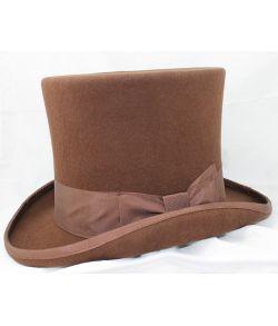 Luksus høj hat, brun