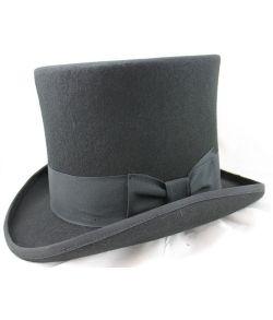 Luksus høj hat, sort
