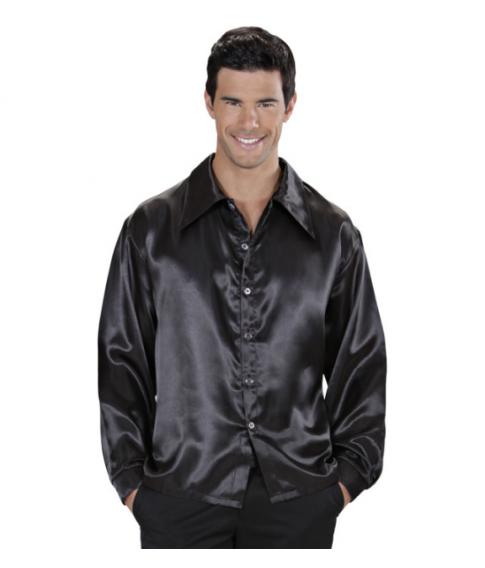 Discoskjorte, sort