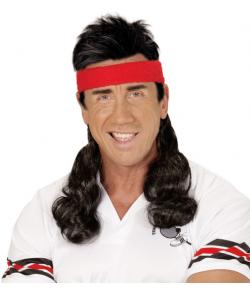 Pandebånd med hår, sort