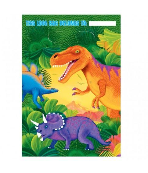 Dinosaur poser 6 stk