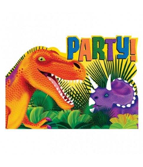 Dinosaur invitationer