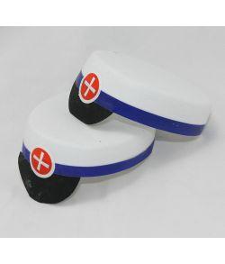 Studenterhuer 8 cm blå
