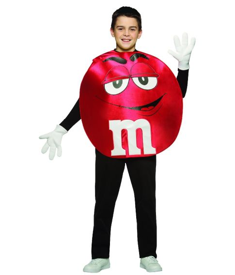 Rødt M&M kostume, teen
