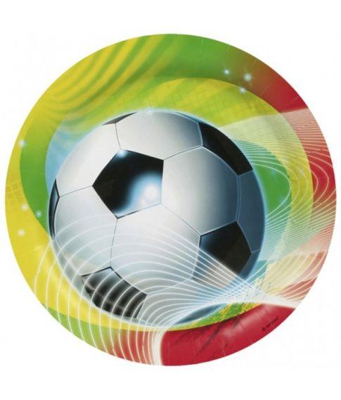 Fodbold tallerkner 23 cm