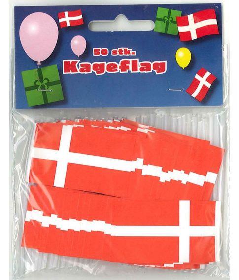 Danske kageflag 50 stk