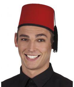 Rød fez hat