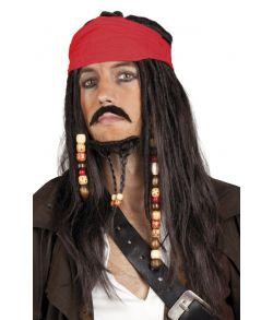 Piratparyk med skæg