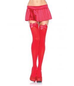 Røde stockings med sløjfe