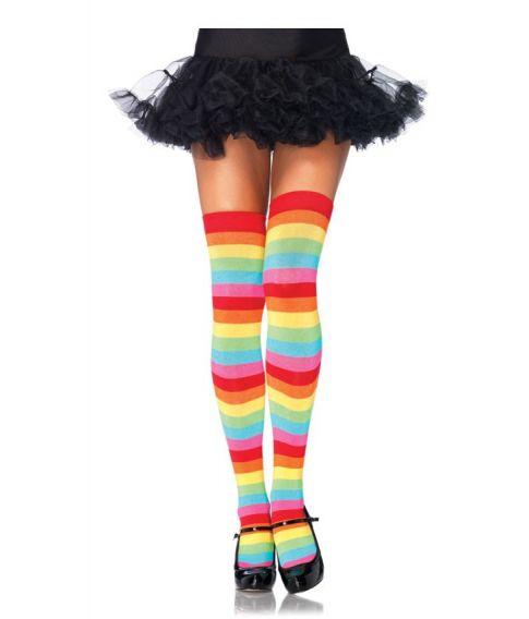 Regnbue strømper