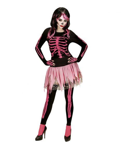 Pink Skeleton kostume