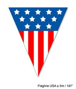 USA vimpelguirlande