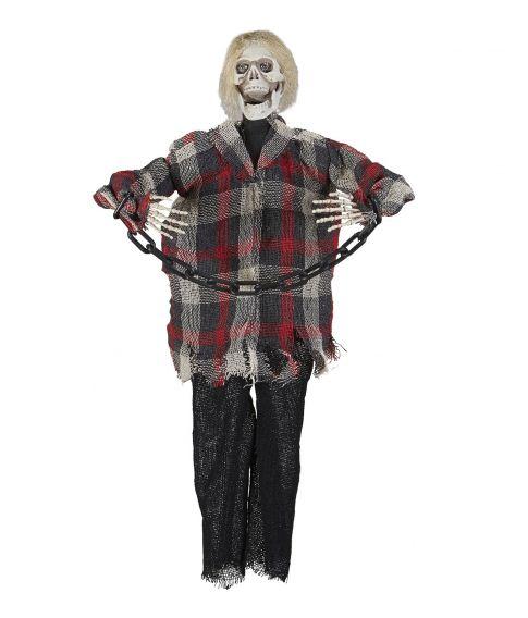 Skelet med kæder - Halloween dekoration