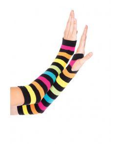 Fingerløse neon handsker