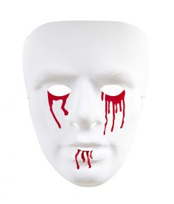 Hvid maske med blod