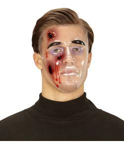 Klar maske med sår