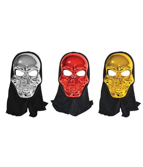 Skelet maske med hætte