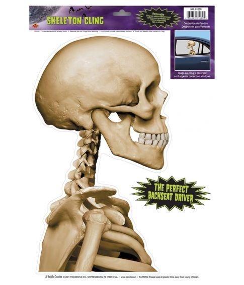 Skelet vindues dekoration