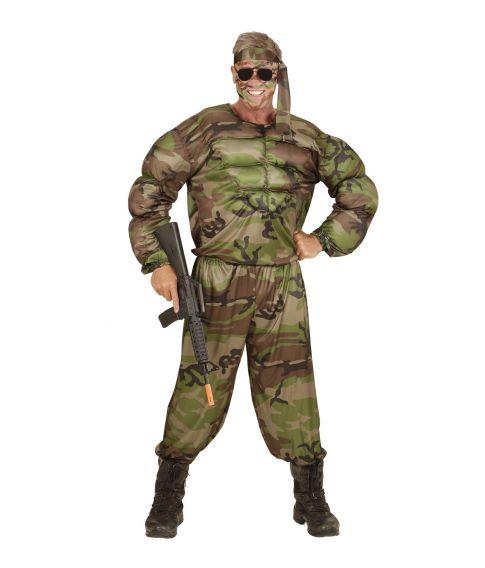 Muskel soldat kostume