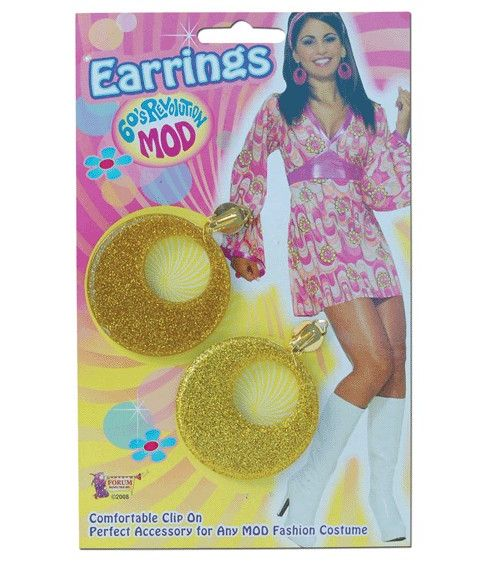 Hippie øreringe, guld