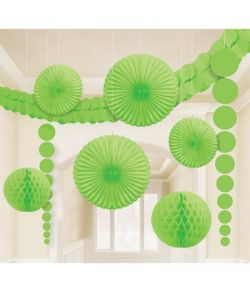 Kiwigrønt dekorationssæt