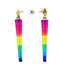 Neon øreringe