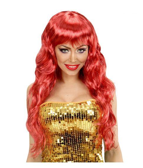 Mermaid paryk rød