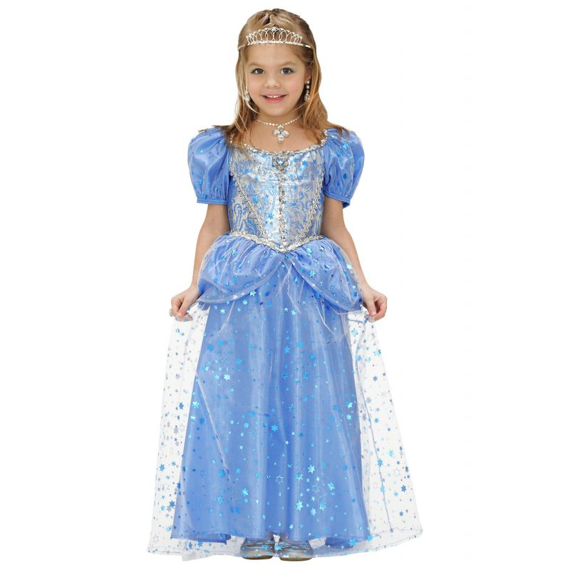 6b7434544fc0 Blå Prinsesse kjole