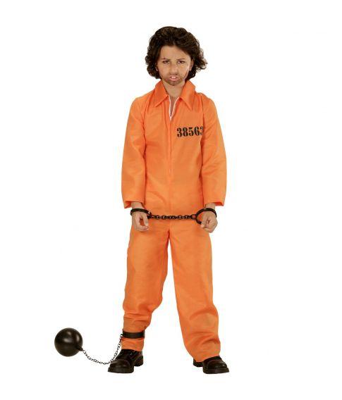 Orange fangedragt kostume