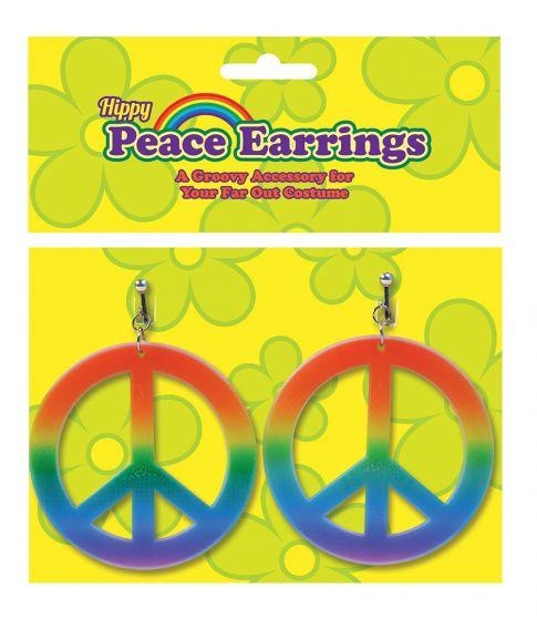 Regnbue hippie øreringe