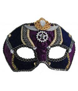 Steam Punk halvmaske, lilla