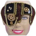 Steam Punk halvmaske, brun