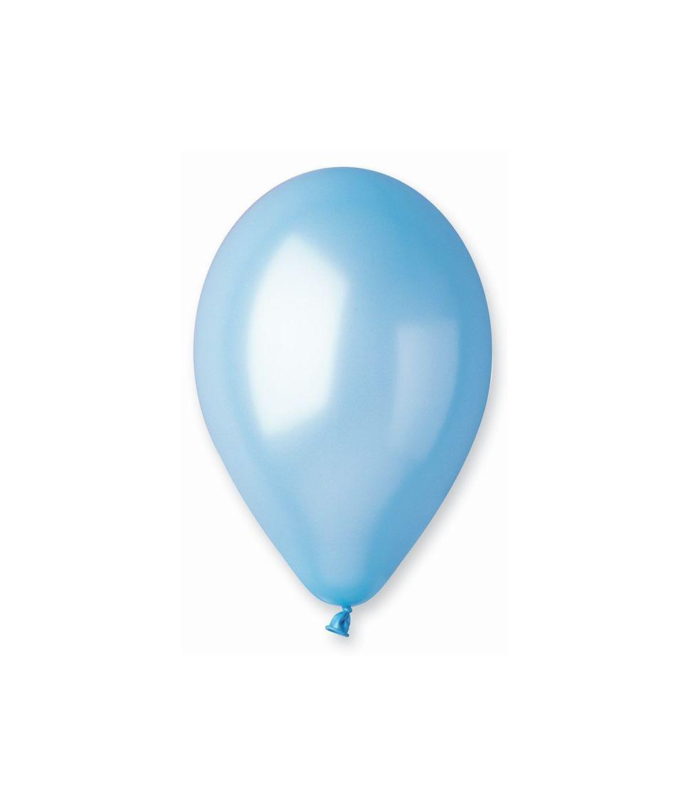Lys blå ballon, metallic