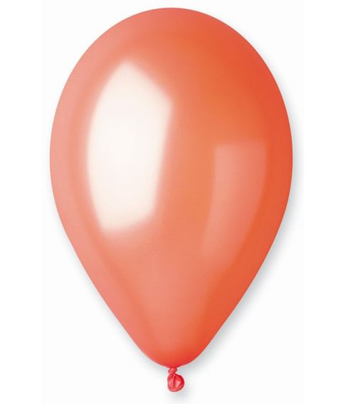 Orange ballon, metallic