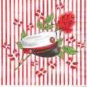 Student servietter, rød med striber