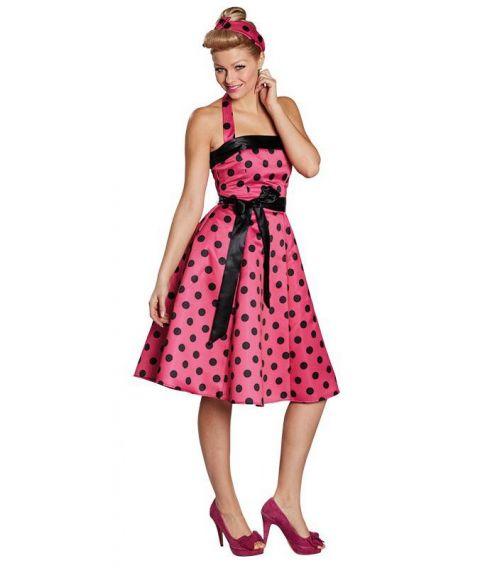 Pink 50er kjole