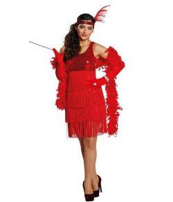 Rød Charleston kjole