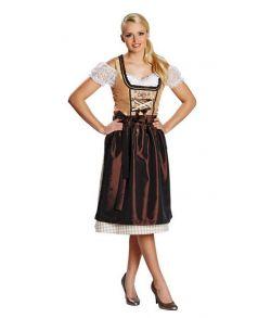 Dirndl kjole, brun