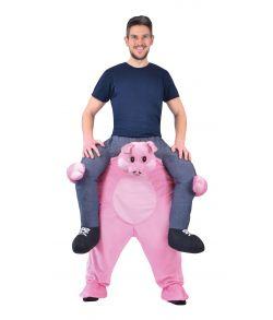 Piggy Back Gris kostume