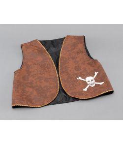 Piratvest, brun